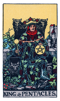 King of Pentacles -- Aries
